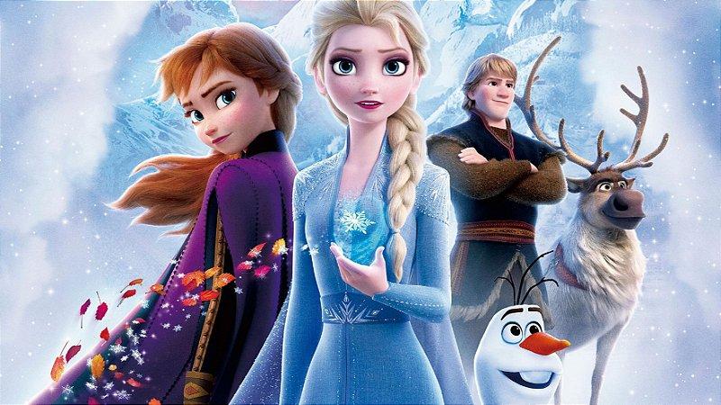 Painel de Festa Infantil Personalizado em Tecido Frozen 2 - 1 PA97