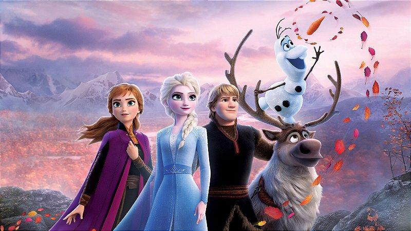 Painel de Festa Infantil Personalizado em Tecido Frozen 2 - 2 PA98