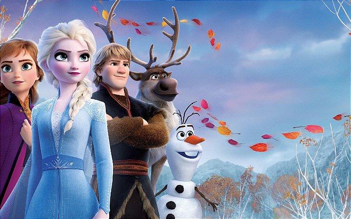Painel de Festa Infantil Personalizado em Tecido Frozen 2 - 3 PA99