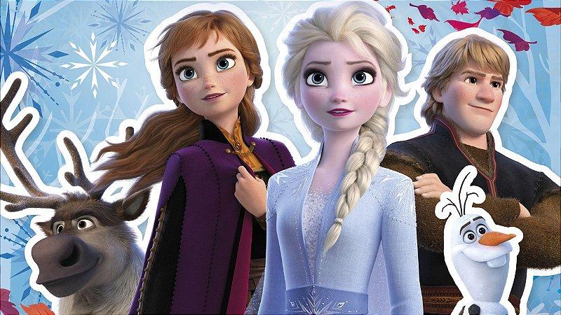 Painel de Festa Infantil Personalizado em Tecido Frozen 2 - 4 PA100