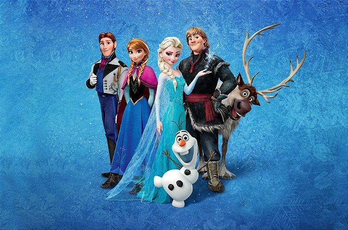 Painel de Festa Infantil Personalizado em Tecido Frozen 2 - 5 PA101