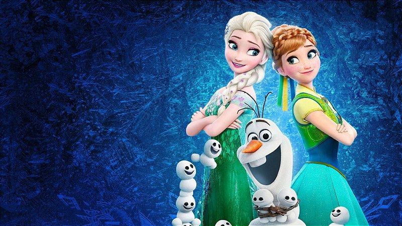 Painel de Festa Infantil Personalizado em Tecido Frozen 2 - 8 PA104