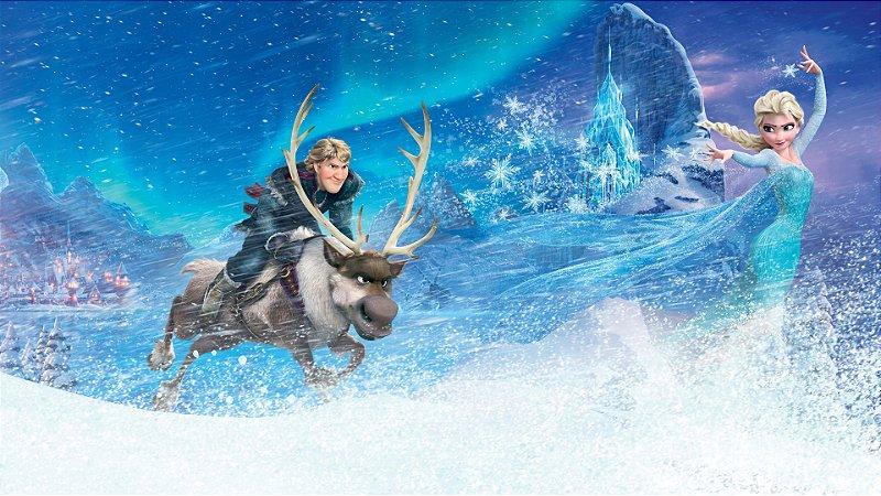 Painel de Festa Infantil Personalizado em Tecido Frozen - PA107