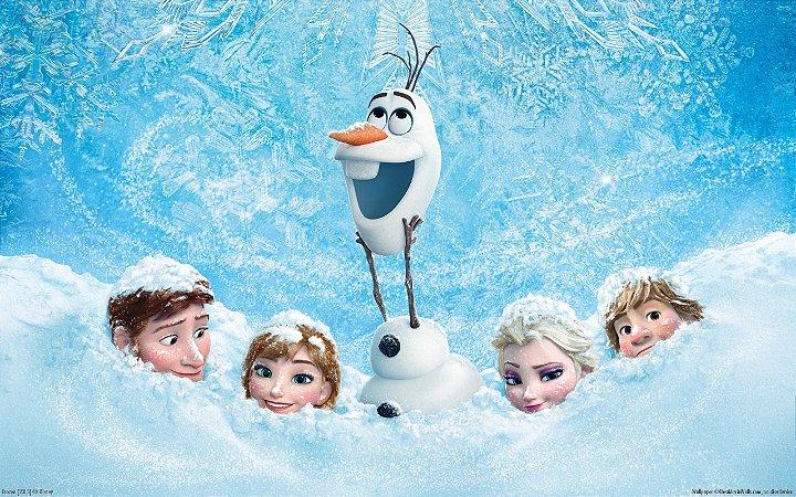 Painel de Festa Infantil Personalizado em Tecido Frozen - PA108