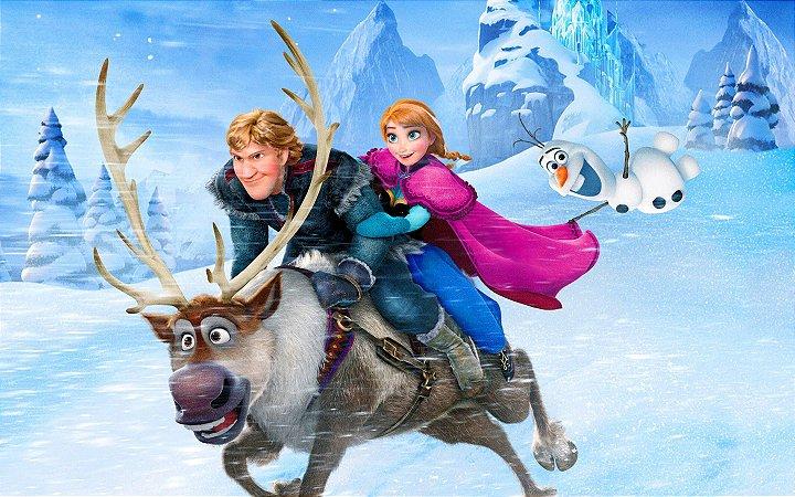 Painel de Festa Infantil Personalizado em Tecido Frozen - PA114