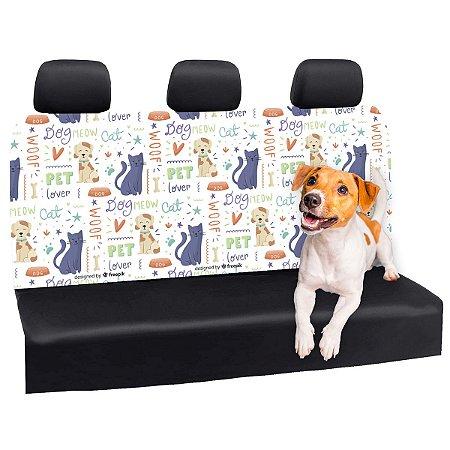 Capa Banco Automotivo Impermeável Personalização Exclusiva Pets 4