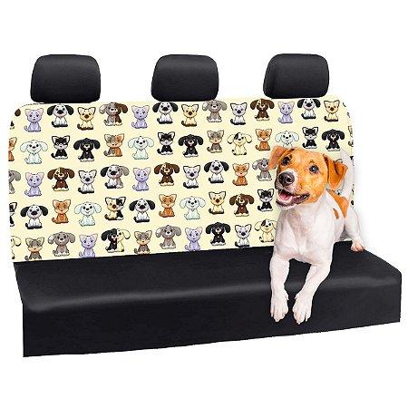 Capa Banco Automotivo Impermeável Personalização Exclusiva Cães 23