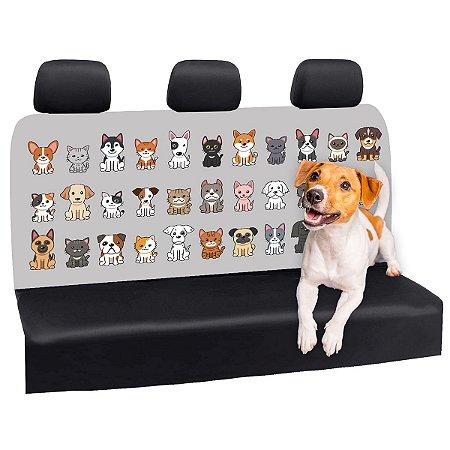 Capa Banco Automotivo Impermeável Personalização Exclusiva Cães 24