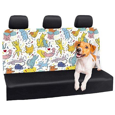 Capa Banco Automotivo Impermeável Personalização Exclusiva Pets 5