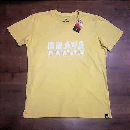Camiseta Brava - Serie Local - Santa Catarina - Amarela