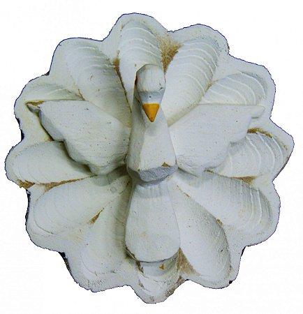 Divino Espírito Santo Flor Madeira Linha Rústica (6,5x6,5cm)