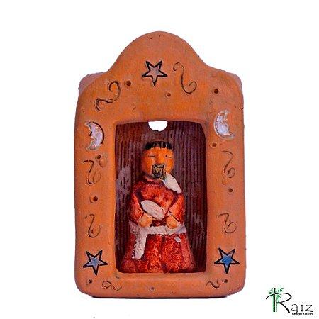 Oratório de Cerâmica São Francisco de Assis