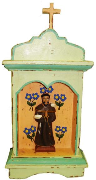 Oratório São Francisco de Assis Madeira (27cm)
