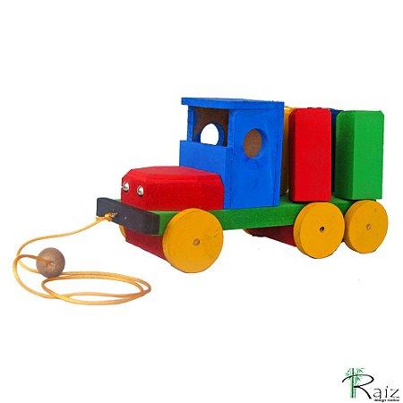 Brinquedo Educativo - Caminhão Gira Toco