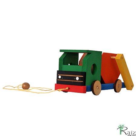 Brinquedo Educativo em Madeira Caminhão Caçamba