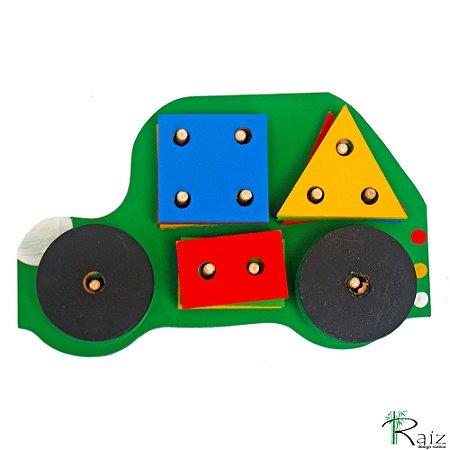 Brinquedo Educativo Figuras Geométricas Carro