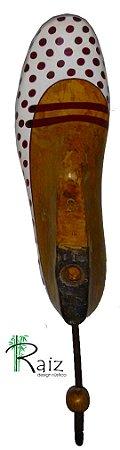 Cabideiro Sapatilha Forma de Sapato Antiga Original