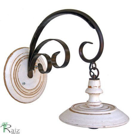 Luminária Arandela Vintage de Madeira e Ferro para Uma Lâmpada