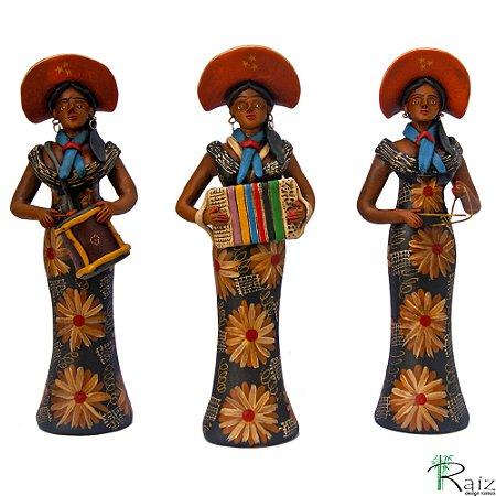Trio de Bonecas Três Marias Forrozeiras