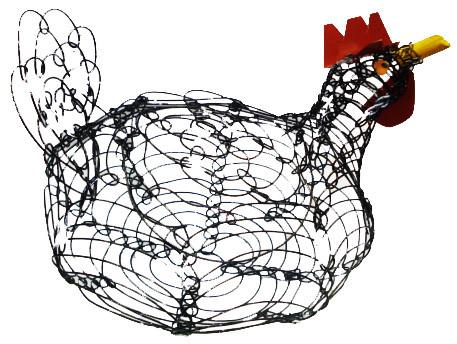 Galinha de Arame Porta Ovos