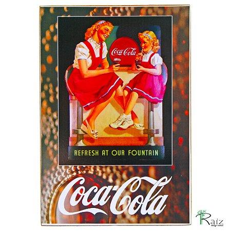 Quadro Coca Cola Our Retrô Estilo Placa de MDF Adesivada 20x29 cm