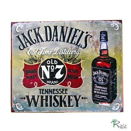 Quadro Jack Daniel's Madeira Estilo Placa 23x19 cm