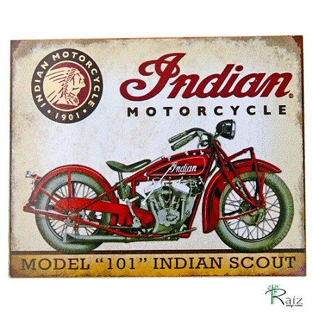 Placa Adesivada Decorativa Moto Retrô