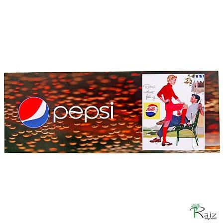 Placa Pepsi Madeira Estilo Vintage Retrô