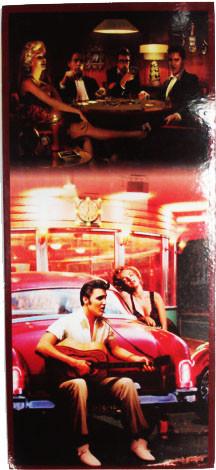 Placa Retrô Elvis Vertical  Linha Vintage (16x35cm)