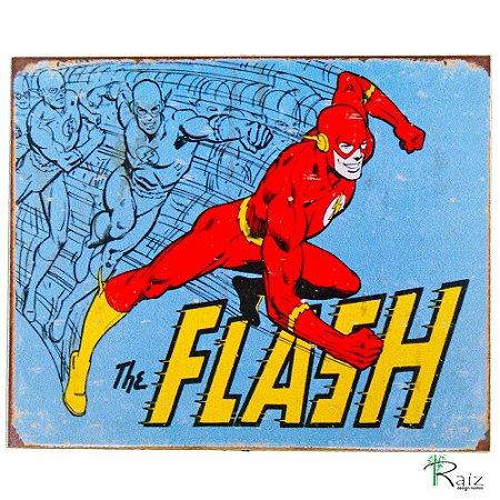 Placa Retrô Coleção Desenho Flash Linha Vintage (23x19cm)