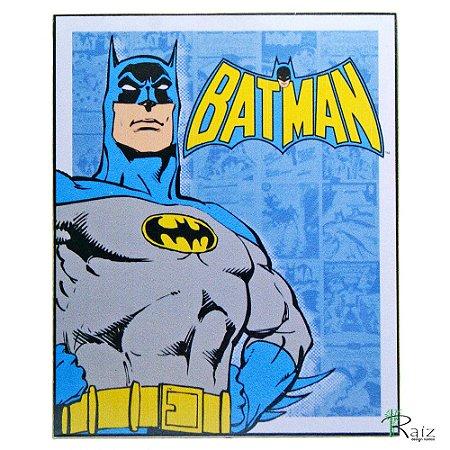 Placa Retrô Coleção Desenhos Batman Linha Vintage (23x19cm)
