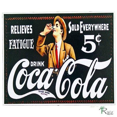 Placas Adesivadas Tema Bebida Coca-Cola (19x23)cm