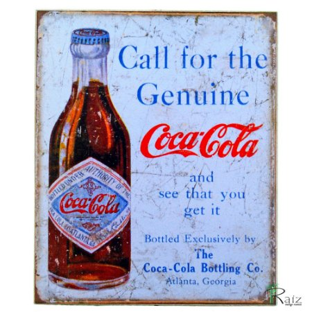 Placas Adesivadas Tema Coca-Cola (19x23)cm