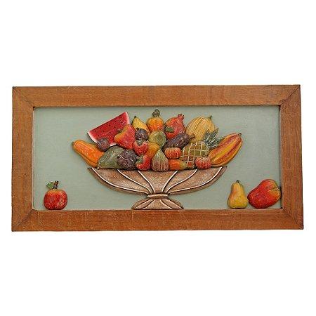 Quadro de Frutas Sobrepostas (40 x 80)cm