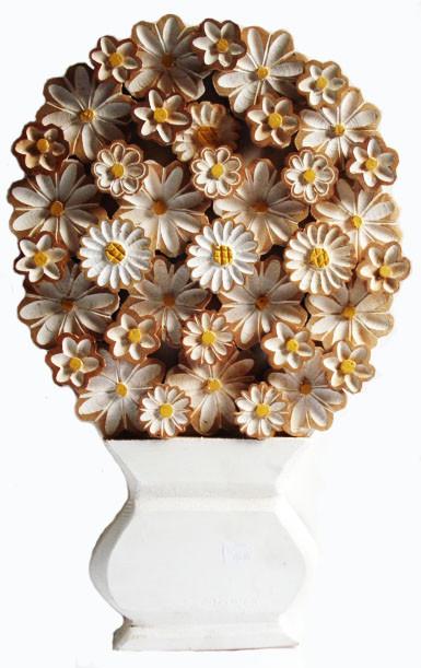 Quadro Flores G Branco Tipo Ânfora