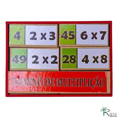 Brinquedo Pedagógico Dominó de Multiplicação