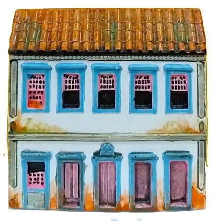 Fachada Réplica Ouro Preto Sobrado Colonial 12 x 12cm