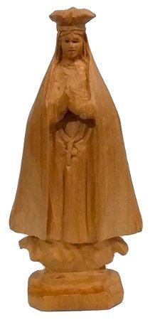 Imagem de Nossa Senhora Aparecida Esculpida a Mão Madeira 12cm
