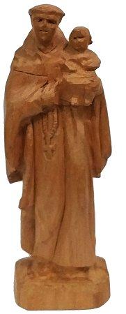 Imagem de Santo Antônio Esculpida a Mão Madeira 12cm