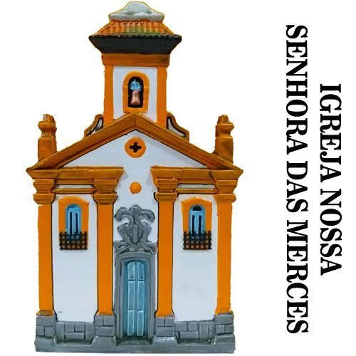 Igreja Nossa Senhora das Merces Fachada Histórica Ouro Preto 20 cm