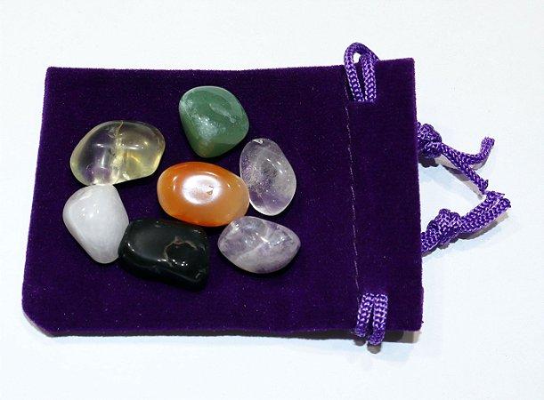 As 7 pedras da Sorte Pedras Naturais Amuleto da Sorte