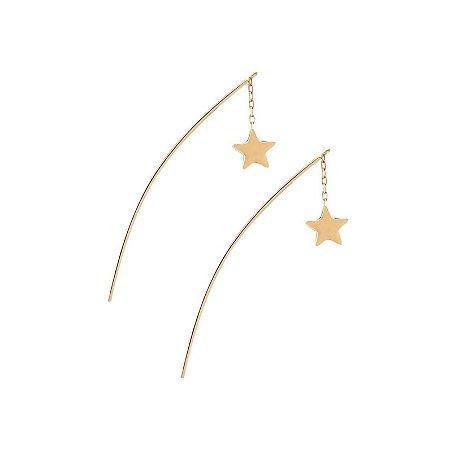 Brinco Estrela em Ouro Amarelo A01043792