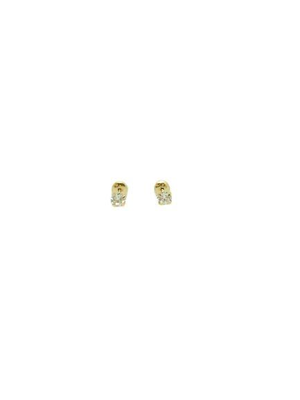 Brinco Ponto de Luz em Ouro 18k e Zirconias