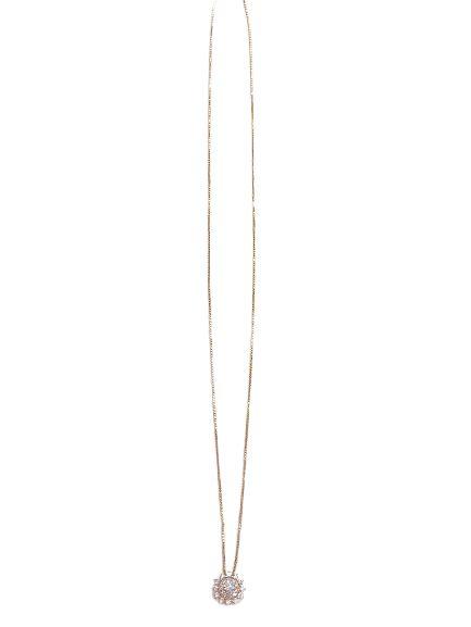 Colar Prata com Banho de Ouro e Zirconias P07256097