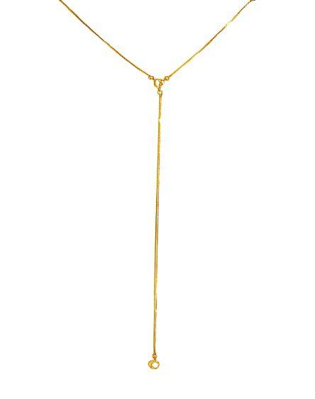 Colar Gravatinha em Ouro 18K com Zirconias Brancas     ref. A07043096