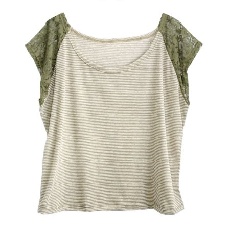 Outlet Blusa Camiseta Feminina Plus Size Manga Renda