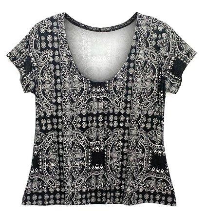 Camiseta Baby Look Feminina Estampada Numeração Até 56