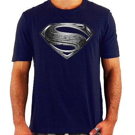 Camiseta Superman - Man Of Steel - Prata