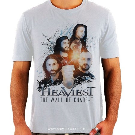 Camiseta Heaviest - The Wall Of Chaos-t - Branca