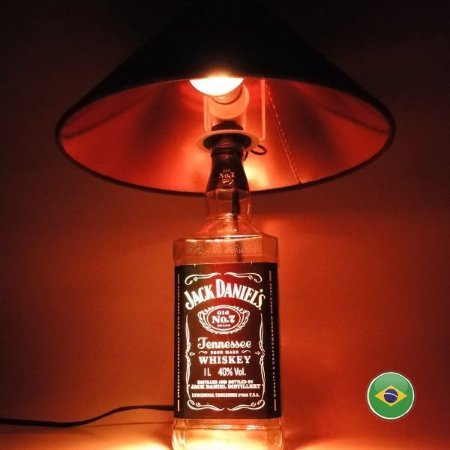 Luminária Jack Daniels - Abajur Exclusivo em LED